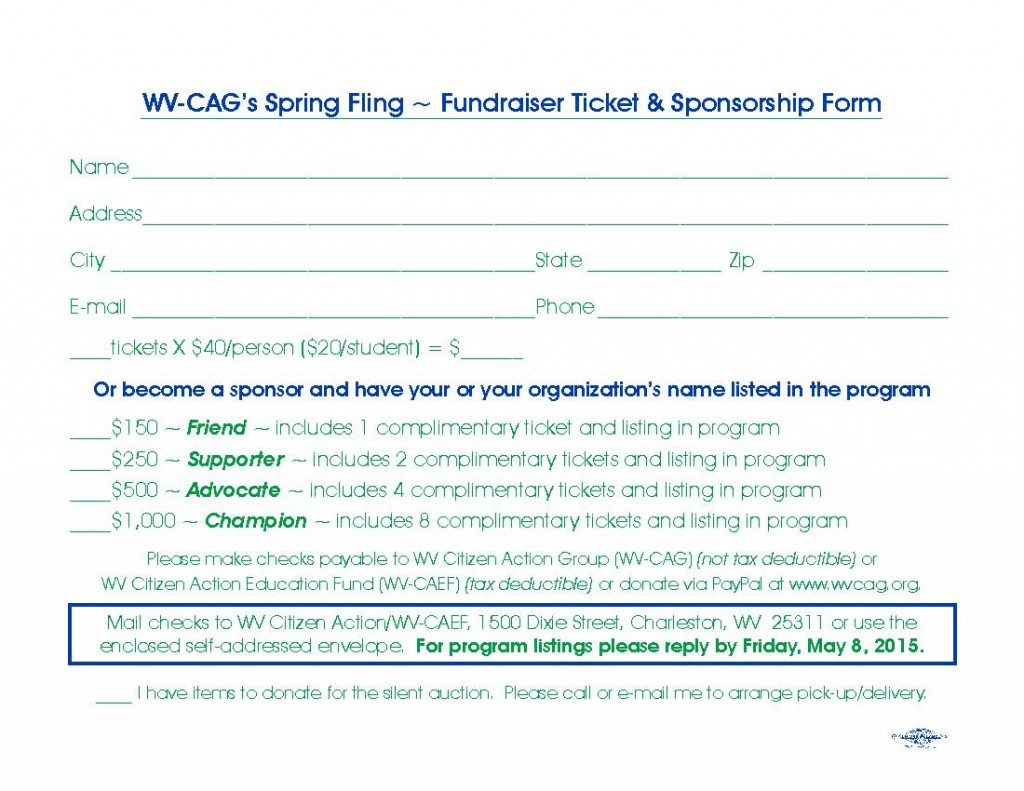 WVCAG - 2015 Reply Card