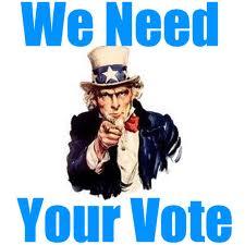 we need your vote