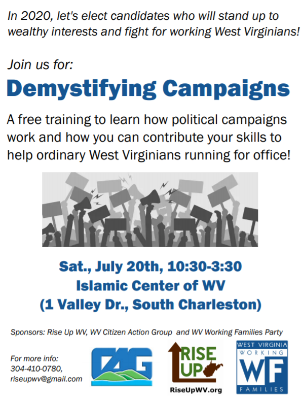 Actions & Trainings to Support People-Powered Campaigns - WV Citizen