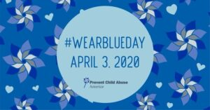 Wear Blue to show support for Child Abuse Awareness